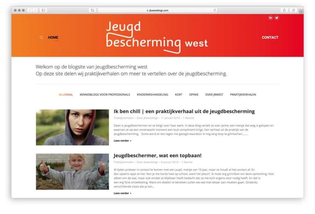 Jeugdbescherming West blogt