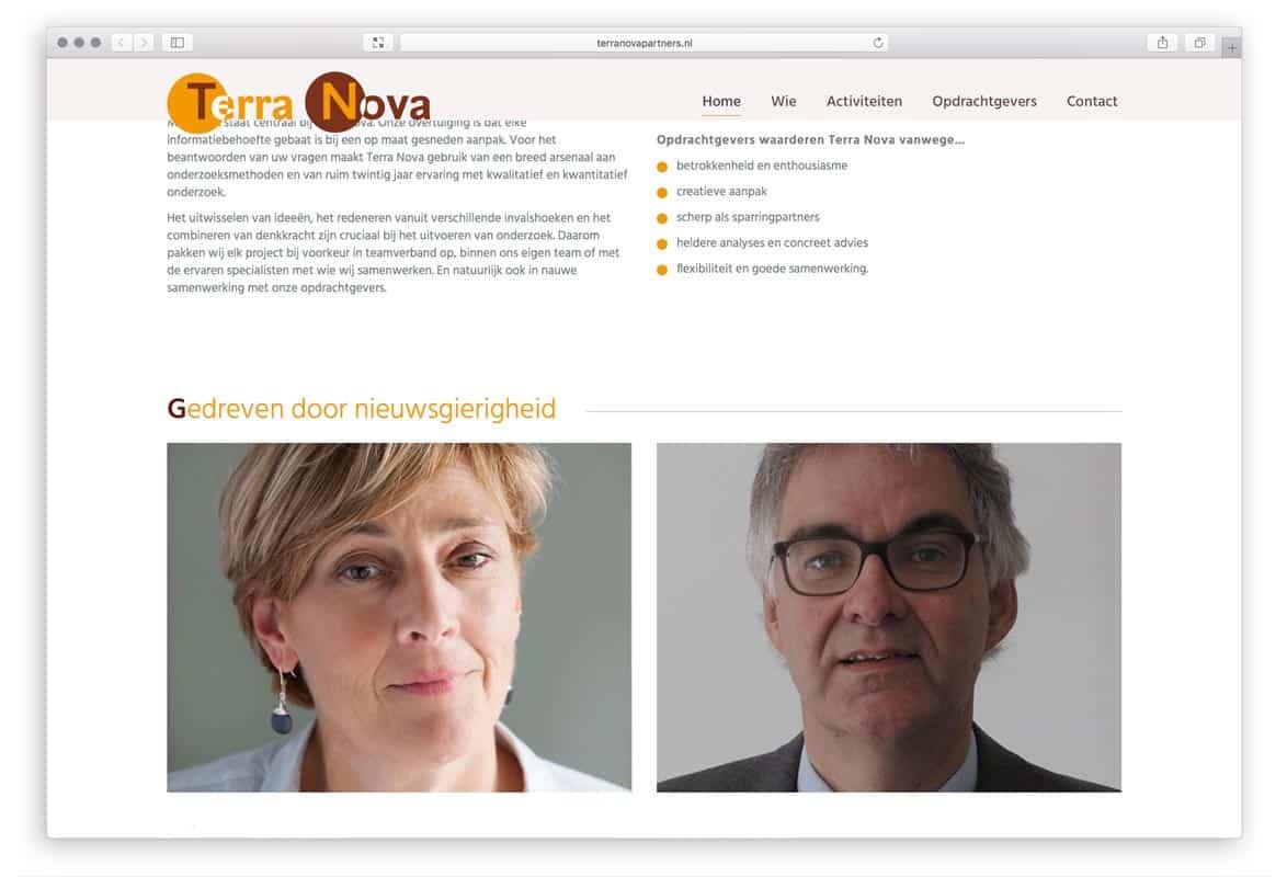 Terra Nova Partners, partners in onderzoek